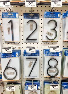 How to make a modern house number sign from dowels. You can find House numbers and more on our website.How to make a modern house number sign from dowels. Big Modern Houses, Modern House Plans, Modern House Design, Contemporary Houses, Contemporary Architecture, Up House, House Front, Front Porch, Led House Numbers