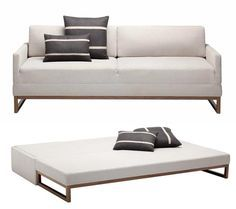 Comfy Sofa Bed for Small Space Room. Comfy Sofa Bed for Small Space. Demand for sofa beds in recent years is increasingly showing a positive trend. Sofa beds not only provide maximum func. Space Saving Furniture, Sofa Furniture, Furniture Design, Furniture Plans, Kids Furniture, System Furniture, Outdoor Furniture, Garden Furniture, Murphy Bed Ikea