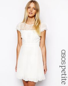 Image 1 of ASOS PETITE Exclusive Dress with Cap Sleeve