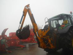 mcconnel ditcher digger tractor mounted like digger jcb back hoe drainage