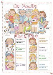 Meine Familie _ Stammbaum | Pinterest | German, Deutsch and Kindergarten
