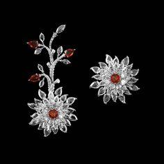 V.A.K. Fine Jewels (@v.a.kfinejewels) on Instagram: #highjewelry #luxury #hautecouture #hautegioaillerie #rosecutdiamonds #natureinspired #sapphire #earrings