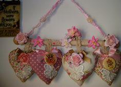 ~ shabby chic lavender hearts by JH..., adorno y aromatizantes.                                                                                                                                                                                 Más
