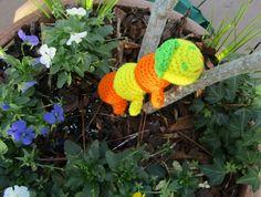 Amigurumi Stick Caterpillar. Orange & Yellow Toy Stick Caterpillar. Plush Crochet Caterpillar. Stuffed Toy Caterpillar. Ready-to-Ship by CoastalCrochetCrafts on Etsy