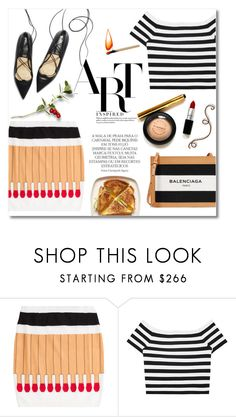 """Match Point"" by alexandrazeres ❤ liked on Polyvore featuring Moschino, Alice + Olivia, Balenciaga, Magdalena, fashionset and matchpoint"