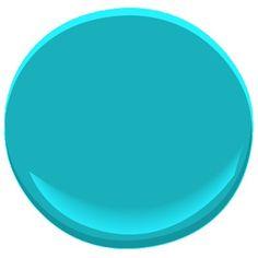 Pretty color for a craft room...Benjamin Moore Cool Aqua