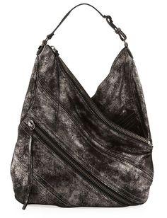 Botkier Legacy Hobo Metallic Leather Hobo Bag in Gunmetal Retails: $ 545.00  NWT #Botkier #Hobo
