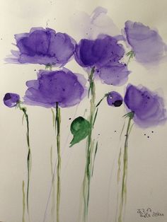 Aquarell Blumen Flowers watercolour #watercolorarts