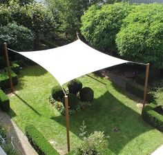 Square sail shade.  The zipline could maybe be integrated into the shade structure...