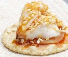 Top rice crackers with pickled ginger and crabmeat for a sushi-bar-inspired appetizer. Try a dollop of wasabi on top for extra zing to this perfect diabetic snack.