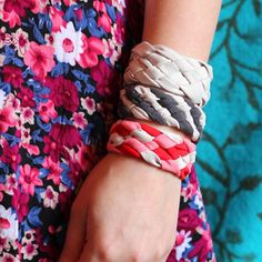 Upcycle T-shirts to Bracelets from Lana Red