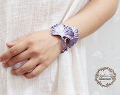 gold leaf cuff gold leaf bracelet handmade by clay by Joyloveclay