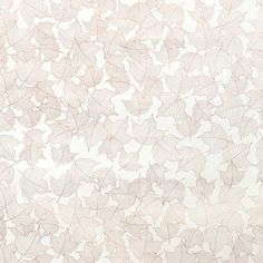 Lovely Leaves Wallpaper, Copper on White by Hygge and West. Designed by Joy D. Cho.