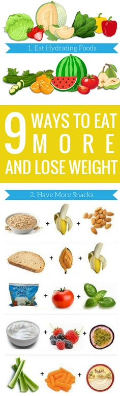 9 Ways to Eat More and Lose Weight