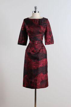 Silk Caye . vintage 1950s dress . vintage by millstreetvintage