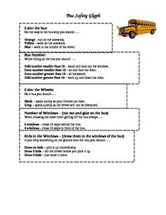 Bus Safety Glyph School Bus Safety, School Bus Driver, First Grade Science, Glyphs, Fun Activities, Draw, Buses, Social Studies, Counseling