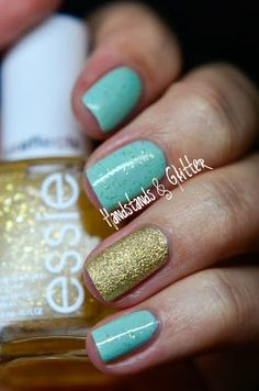 Essie - Mint Candy Apple & As Gold As It Gets  OPI - Honey Ryder