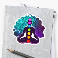 'Chakra meditation and energy body yoga hindi' Sticker by StefaniaAlina Chakra Meditation, Binder Covers, Transparent Stickers, Glossier Stickers, My Arts, Yoga, Art Prints, Printed, Awesome