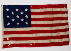 EARLY 20th c. (13) STAR AMERICAN FLAG : Lot 32