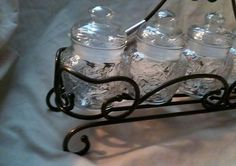 Princess House crystal FANTASIA ~~ SPICE JARS with RACK