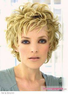 Messy Curly Hair Style - Short