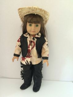 Cowgirl outfit Pants Sirt Vest Boots & Hat for by DistinctiveDoll