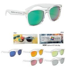 502a303c858c Crystalline Mirrored Malibu Sunglasses Perfect for both Corporate and  Personal Events. Trade Show Giveaways