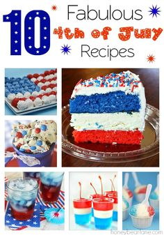 10 4th of July recipes!
