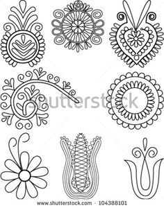 Find Vector Illustration Floral Elements Hungarian Folk stock images in HD and millions of other royalty-free stock photos, illustrations and vectors in the Shutterstock collection. Chain Stitch Embroidery, Embroidery Stitches, Embroidery Patterns, Machine Embroidery, Hungarian Embroidery, Folk Embroidery, Learn Embroidery, Floral Embroidery, Bordado Popular