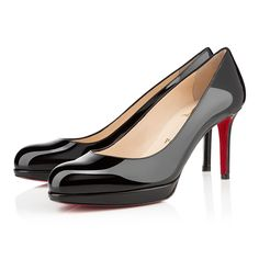 new simple pump 85mm black patent leather