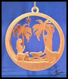 Scrollsaw Workshop: Layered Nativity Christmas Ornament Scroll Saw Pattern.