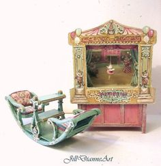 Limited   Victorian Playroom Rocking SeeSaw Chair door JillDianneArt