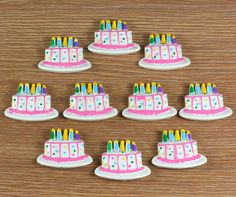 Lot 10pcs Birthday White Cake Resin Flatbacks Flat Back Scrapbooking Party Hair Bow Center Crafts Making Embellishments DIY on Etsy, $5.00