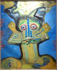 Eine Malerei des italienischen Art-Brut-Künstlers Ugo Mainetti, der in Tirano im Veltlin lebt.