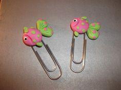 Peixinhos em biscuit - Polymer Clay Bookmarks