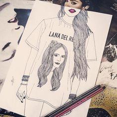 Toda vez que fecho os meus olhos, é como um paraíso sombrio...  #LanaDelRey - #DarkParadise  #Drawing #tshirt #indie #hipster #rock #pop #desenho #music #art #ilustração