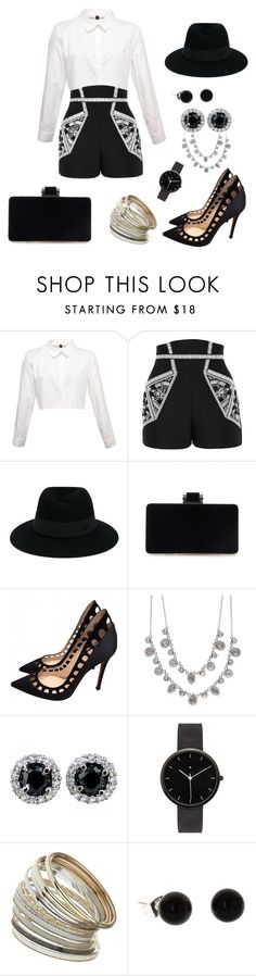 """""""Untitled #334"""" by chilosa3325 on Polyvore featuring sass & bide, Maison Michel, Gianvito Rossi, Givenchy, I Love Ugly and Miss Selfridge"""
