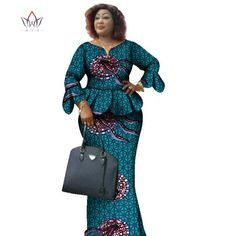 Image of Two Piece Set,African Women Print Plus Size African Women Clothes, Ruffles Petal Sleeve Crop Top and Skirt Sets Best African Dresses, Latest African Fashion Dresses, African Print Dresses, African Print Fashion, African Attire, African Print Dress Designs, African Blouses, Traditional African Clothing, Petal Sleeve