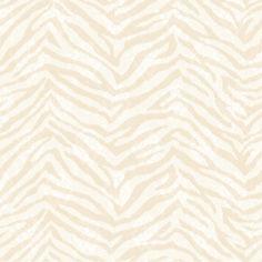 "Christel Mia Faux 33' x 20.5"" Zebra Print 3D Embossed Wallpaper"