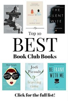 Best book club picks for your next book chat! A combination of bestseller, mystery, classic, and inspirational. Highly recommended books you'll love.
