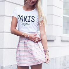 zigzag rokje via My Jewellery / #VIPskirt #pinkskirt #skirt #paris #outfit #ootd #pink #myjewellery #ootd