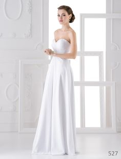Very simple high quality wedding dress from European designer. Get it now for 330 €. Most Beautiful Models, Designer Wedding Dresses, One Shoulder Wedding Dress, Simple, Fashion, Moda, Fashion Styles, Fasion