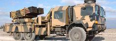 Tamamı ile yerli üretim ROKETSAN ürünü olan dün sınırda konuşlandırılan T-122 Çok Namlulu Roket Atar (ÇNRA) Sistemi.
