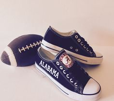 Alabama Crimson Tide Women's Athletic Shoes by Sportzunlimited on Etsy https://www.etsy.com/listing/248419776/alabama-crimson-tide-womens-athletic