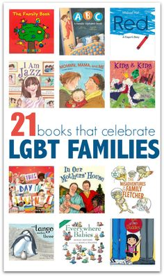 Books about families with same sex parents. Great list of LGBT books for kids.
