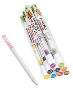 Scented colored pencils. How fun