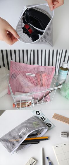 Everyone needs at least a couple mesh pouches for their travels. These Second Mansion pouches are the perfect place to start! There's no better way to carry your toiletries, makeup, and swimsuit! ^.~*