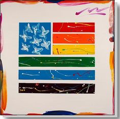 """ Rainbow"" flag'  acrylic & metal on museum stretched canvas  36"" x 36""  http://www.macworthington.com/  macwartist@aol.com"