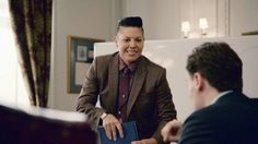 "Sara Ramirez's Kat Sandoval Debuts Even Gayer Than Imagined On ""Madam Secretary"" Ladies Wear, Women Wear, Butch Fashion, Madam Secretary, Butches, Thug Life, Androgynous, Suits For Women, Dapper"