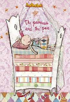 I'm already familiar with the gorgeous toys from Danish company Maileg, but how beautiful is this illustrated card of Princess and the Pea?